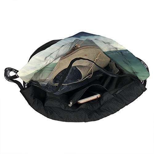 7c5cc37f4ae3 Address Verb Drawstring Backpack with Pocket Multifunctional Sturdy Swan  Fly Sackpack Sports Gym Shoulder String Bags