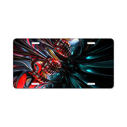 Khope License Plate Frame Abstract Artistic Durable Car Tag 12 × 6