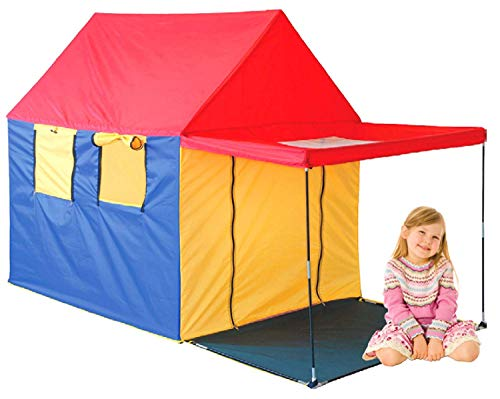 GigaTent My First Summer House Play Tent 4 Large Windows with Skylight Pitch roof Designed to Look Like a Real House Easy to Set up