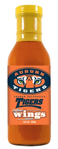 12 Pack AUBURN Tigers Buffalo Wings Sauce (Wing Tigers Sauce)
