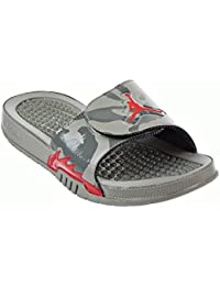 a4d6cc9caeb Jordan Hydro 5 Retro Men's Slides Dark Stucco/University Red 555501-051