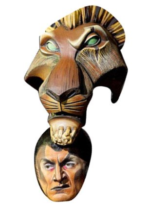 Perfect Scar The Lion King The Musical Celebrity Face Mask: Amazon.co.uk: Toys U0026  Games
