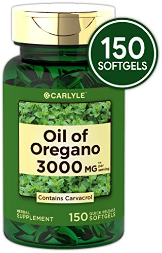Oregano Oil 3000 mg 150 Softgel Capsules | Contains Carvacrol | Non-GMO & Gluten Free | Oil of Oregano Pills by Carlyle