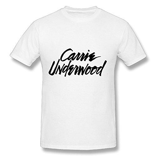 Best White T Shirt For Men Carrie Underwood Logo