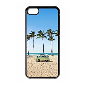 Palm Trees and Car IPhone 5C Case, [Black]