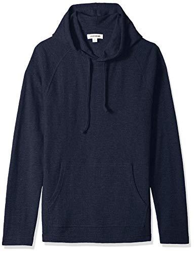Goodthreads Men's Long-Sleeve Slub Thermal Pullover Hoodie, Navy, X-Small