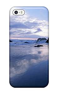 Brand New 5/5s Defender Case For Iphone (rocks In The Water Violet Sky Nature Other)