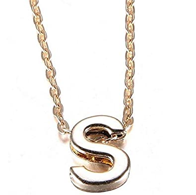 buy stylish gold plated alphabet letter pendants with chain for boys