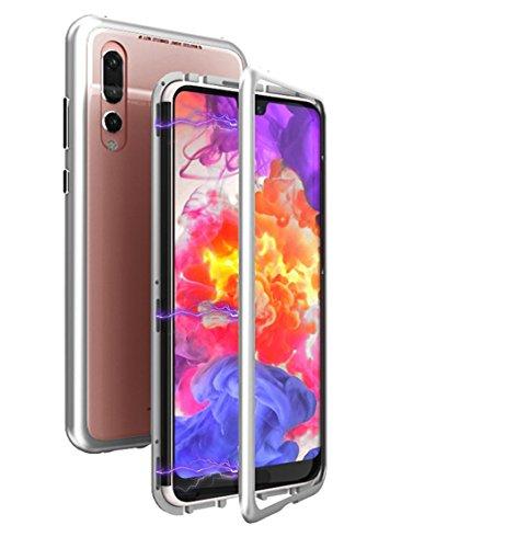 Funda Huawei P20 Pro case,Antichoque magnético Metálico Aluminio Protector Anti Rayado Delgado Cristal Templado Protección...