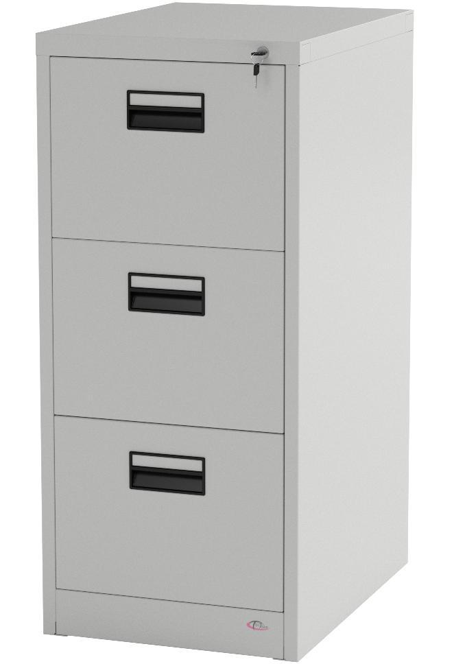 Carsparadisezone Schedario da Ufficio 3 Cassetti Rotelle Metallo Armadietto Mobile Archivio Documenti Bianco