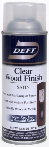 Deft 037125017132 Interior Clear Wood Finish Satin Lacquer with 12.25-Ounce Aerosol Spray