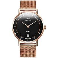 OLMECA Men's Watches Luxury Waterproof Fashion Quartz Women Watches Chronograph Stainless Steel Band Wristwatches for Men 0872L-QMHMwd