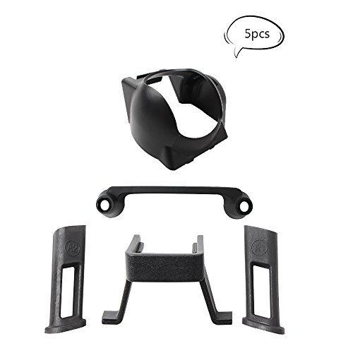 Teenitor Transmitter Controller Stick Thumb Protective Clip Rocker + Lens Hood Sun Shade Cover + Leg Height Extender Kit Combo for DJI Mavic - Clips Control Shade Sun