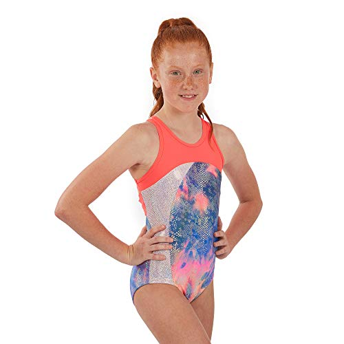 Lizatards Leotards for Girls Gymnastics: Fun Back Design in Nylon/Spandex in Girls and Adult Sizes - Rainbow Fish-Big Girl's M (7-8)