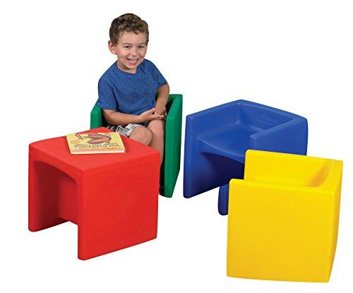 - Childrens Factory CF910-007 Cube Chairs - Set of 4