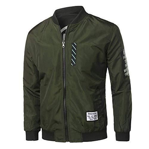 Hommes Mode Manteau À Manches Longues Stand Col Bomber Veste Automne Hiver Mode Casual Zippered Pilote Veste Manteau… 2