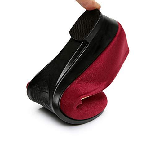 Sandales Chaussures Femmes Femmes Bateau Confortable Mocassins Rouge Wedges Chaussures JRenok Casual Slip 0fqEIFxFw