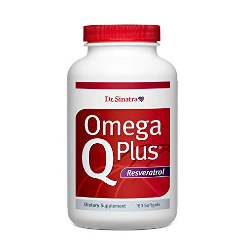 Dr. Sinatra's Omega Q Plus Resveratrol - Omega-3 Supplement with CoQ10 and Resveratrol - Promotes Comprehensive Heart and Whole Body Health to Help You Age Well (180 softgels)