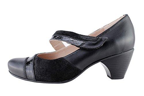 Mujer Piesanto Mary Zapato Cómodo Negro 175403 jane 6wfXxS54nq