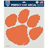 "Clemson Tigers Full Color Die Cut Decal - 8"" X 8"""