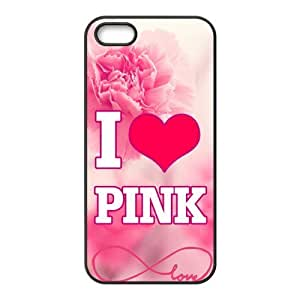 Customiz Love Pink Back Cover Case for iphone 5 5S JN5S-2504