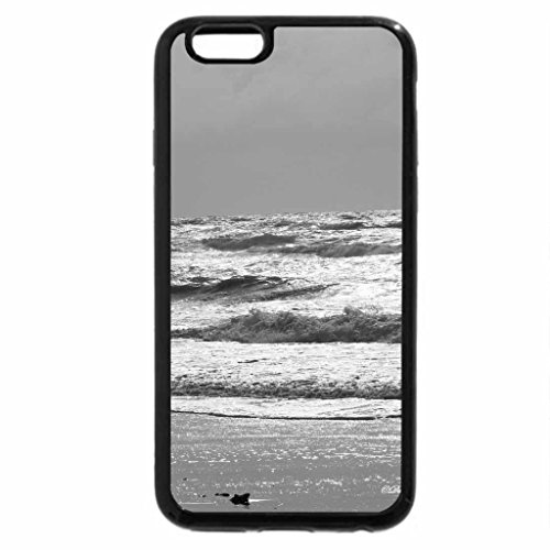 iPhone 6S Case, iPhone 6 Case (Black & White) - sun shinning on breaking waves
