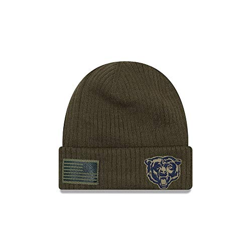 - New Era 2018 Mens Salute to Service Knit Hat (Chicago Bears)