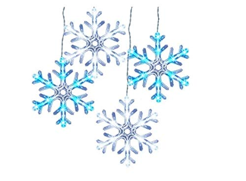 Wondershop by Philips  5 Count LED  Blue/Cool White Color Changing Multi-Function Snowflake String Lights