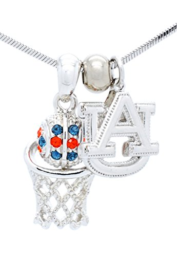 Tigers Tigers Basketball Pendant - AUBURN TIGERS BASKETBALL NECKLACE - AUBURN BASKETBALL PENDANT