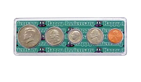 1998-22 Year Anniversary Year Coins Set in Happy Anniversary Holder Uncirculated