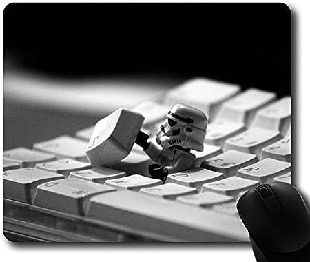 Custom Gaming Mouse Pad con Teclado Storm Trooper StarWars Película antideslizante estándar de tamaño 9pulgadas (220mm) X 7pulgadas (180mm) X 1/8pulgadas de goma de neopreno (3mm) ordenador de s