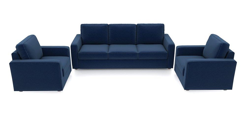 Urban Ladder Apollo Five Seater Sofa Set 3-1-1 (Cobalt): Amazon.in: Home & Kitchen