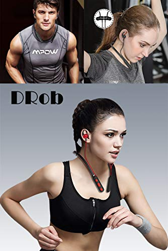DRob Wireless Bluetooth Headphones Wireless SoundBuds Bluetooth 4.2 High Sports Earphones, Workout Earbuds,Noise Cancellation, Carry Pouch Ergonomic Running Earphones by DRob (Image #6)