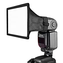 Neewer 10018281 Translucent Softbox for Canon, Nikon and Other DSLR Cameras Flashes, Neewer TT560 TT850 TT860 NW561 NW670 VK750II Flashes (6 x 5-Inch/ 15 x 13 centimeters)