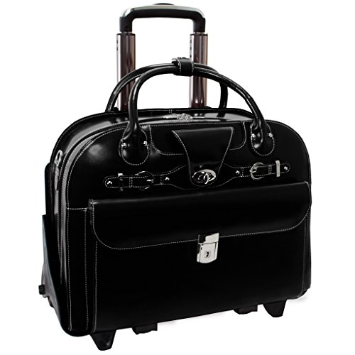 McKleinUSA ROSEVILLE 96645 Leather Fly-Through Checkpoint-Friendly Detachable-Wheeled Ladies' Briefcase
