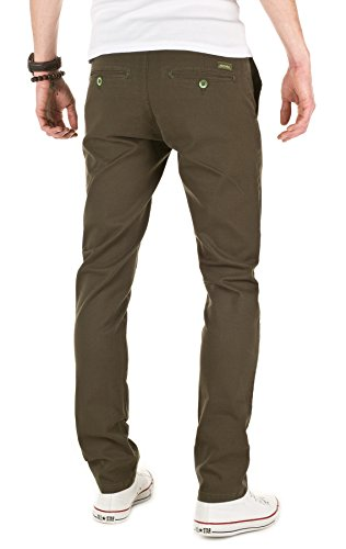 WOTEGA Men's Chino Pants Adriano slim, forest night (0414), W32/L34