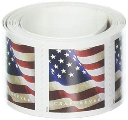 2 USPS Forever US Flag Postage Stamps Roll Of 100 2017 Or 2018 Version