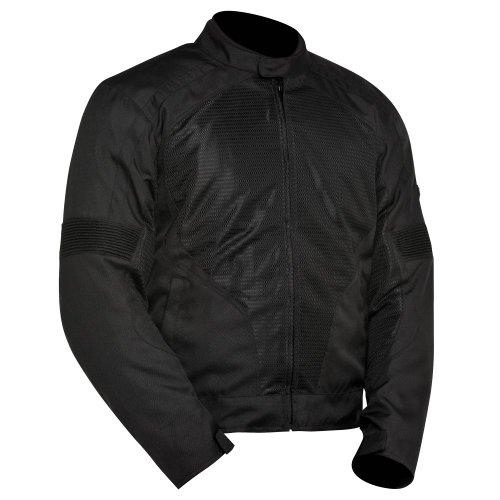 BILT Racer Mesh Textile Motorcycle Jacket - MD, Black