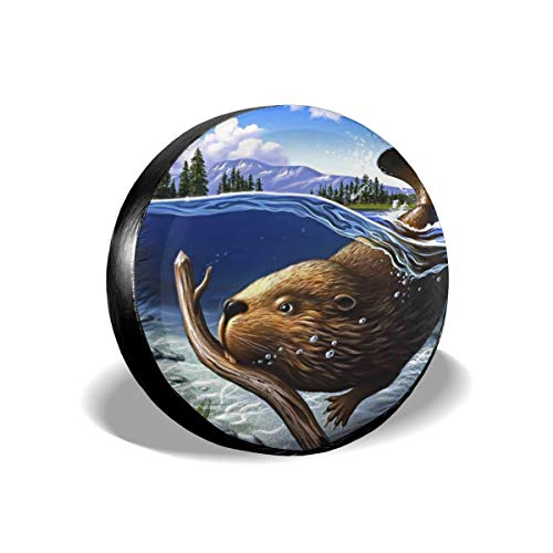 Waterproof Tire Cover - Busy Beaver Tire Sun Protectors Weatherproof Wheel Tire Cover Liberty Spare Tire Cover 16 Inch -