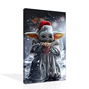 Star Wars Baby Yoda Mandalorian poster hd print canvas for home decor and kids gift party decor (20 * 30inch,No Framed)