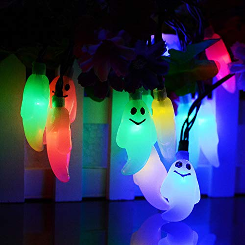 Hot Sale!DEESEE(TM)2.5m 20 LED Halloween Ghost String Lights Battery Operated Lights with Remote Control (Multicolor) by DEESEE(TM)_Home