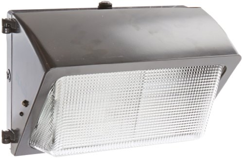100w Metal Halide Wallpack (RAB Lighting WP2H100QT/PC2 WP2 Glass Lens Metal Halide Wallpack, ED17 Type, Aluminum, 100W Power, 9000 Lumens, 277V Button Photocell, HX-HPF QT Ballast, Bronze Color)