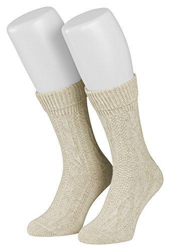 Piarini® 1 Paar Trachten-Socken mit Zopf-Muster im Landhaus-Stil 39-42