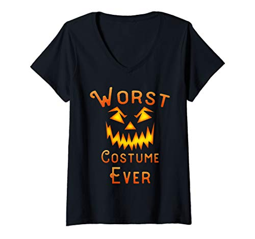 Scariest Female Halloween Costumes Ever (Womens Funny Worst Halloween costume Ever halloween gift idea V-Neck)