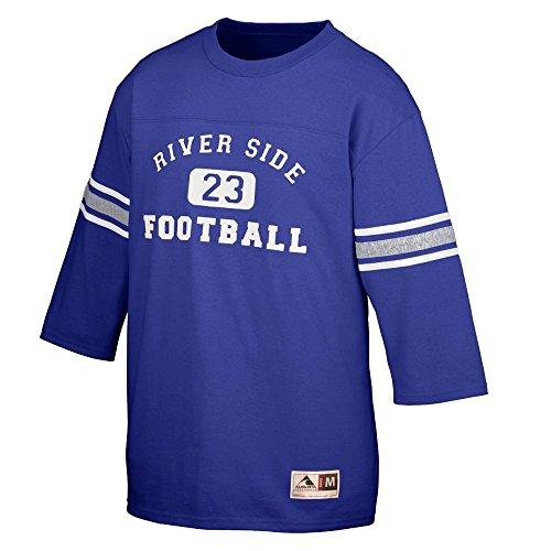 Augusta Sportswear OLD SCHOOL FOOTBALL JERSEY XL Purple/Athletic Heather/White
