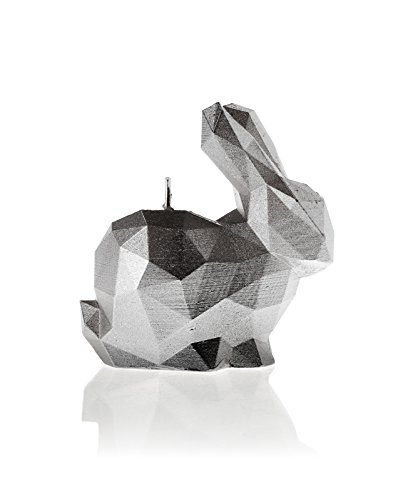 Candellana Candles 5902650678835 Bunny Candellana- Bunny Candle-Silver,Silver,Small