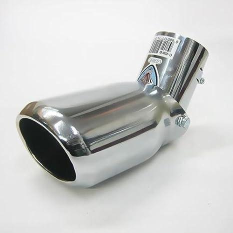 Autohobby 420D - Embellecedor de tubo de escape, universal, acero inoxidable hasta 57 mm de diámetro, cromado: Amazon.es: Coche y moto