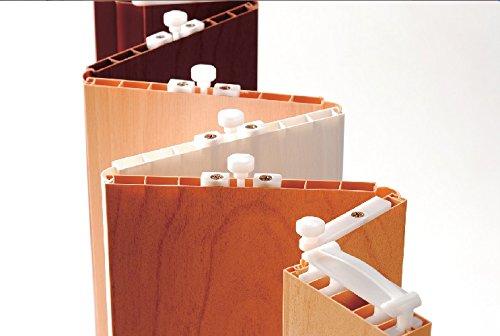 Faltt/ür Schiebet/ür T/ür wei/ß gewischt mit Fenster Class H/öhe 202 cm Einbaubreite bis 96 cm Doppelwandprofil Neu TOP-Qualit/ät
