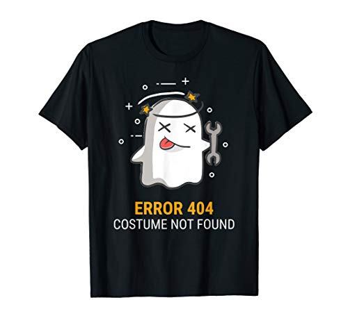 Great Last Minute Homemade Halloween Costumes (Error 404 Costume Not Found Easy Halloween Ghost T-Shirt)