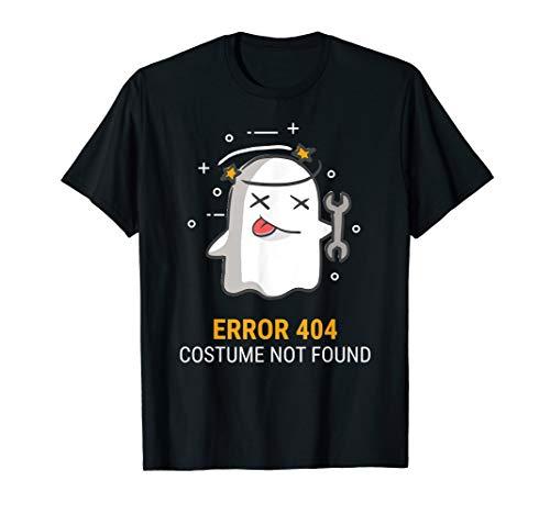 Error 404 Costume Not Found Easy Halloween Ghost T-Shirt